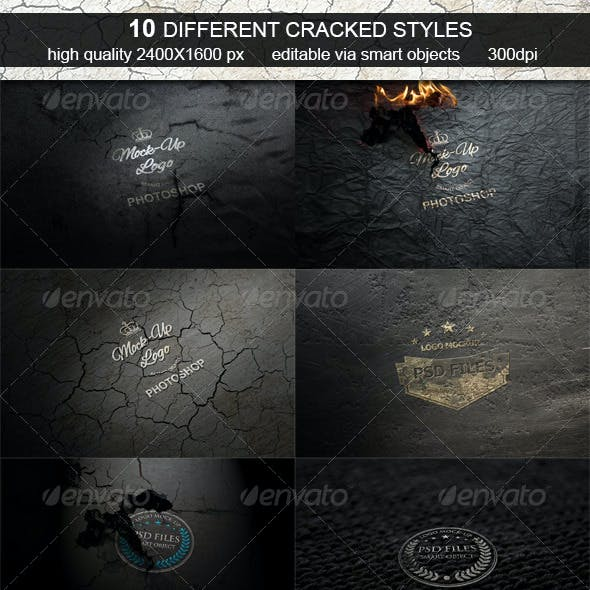 Cracked Logo Mock-Up