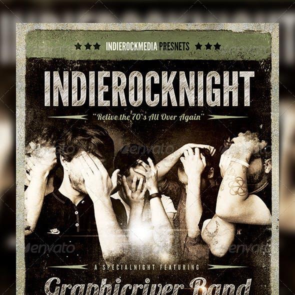 Rock / Indierock / Vintage Concert Flyer / Poster