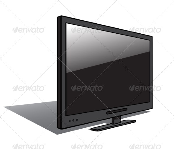 Modern LCD TV - Man-made Objects Objects