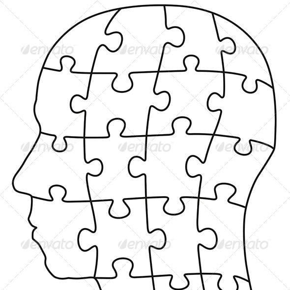 Head Puzzle Single Parts