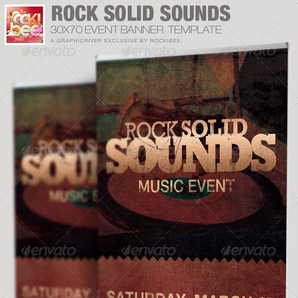 Rock Solid Sounds Banner Signage Template