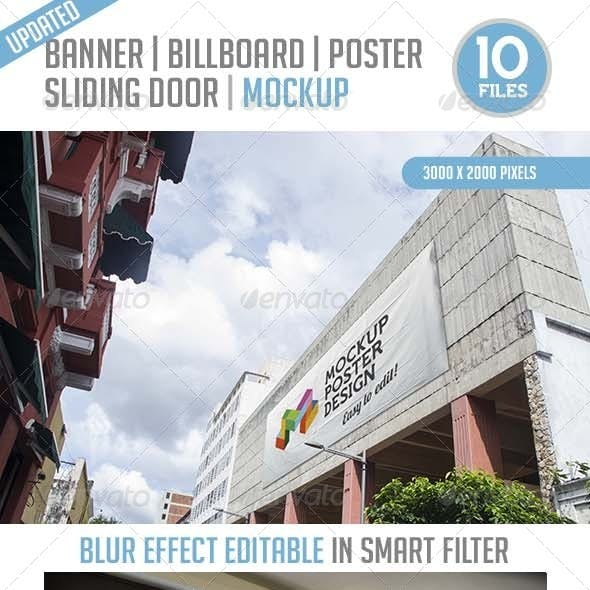 10 Urban Banner, Billboard, Poster and Sliding Doo
