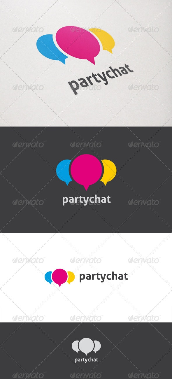 Party Chat - Objects Logo Templates