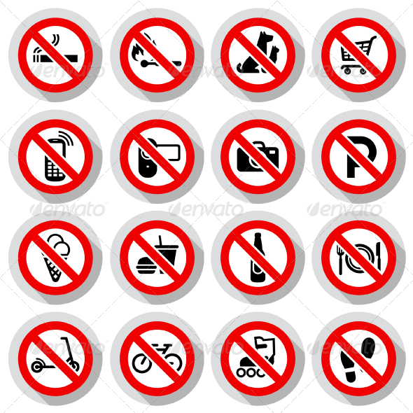 96 Prohibited Symbols, Modern Paper Labels