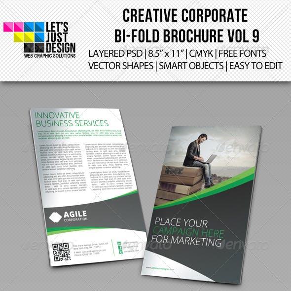 Creative Corporate Bi-Fold Brochure Vol 9