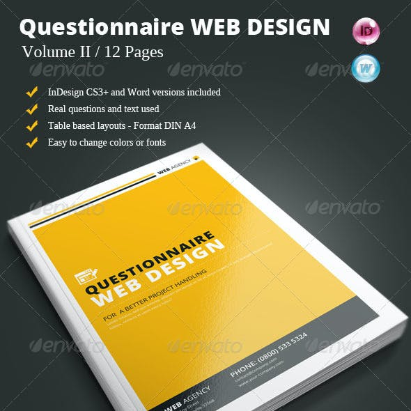 Questionnaire Web Design Vol. II