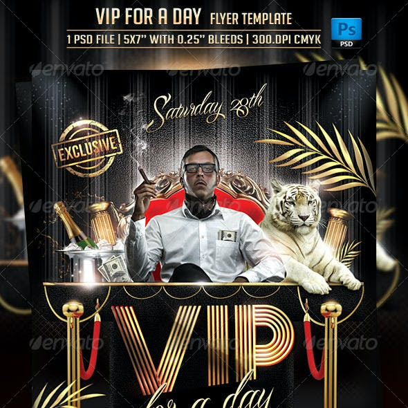 VIP For a Day Flyer Template