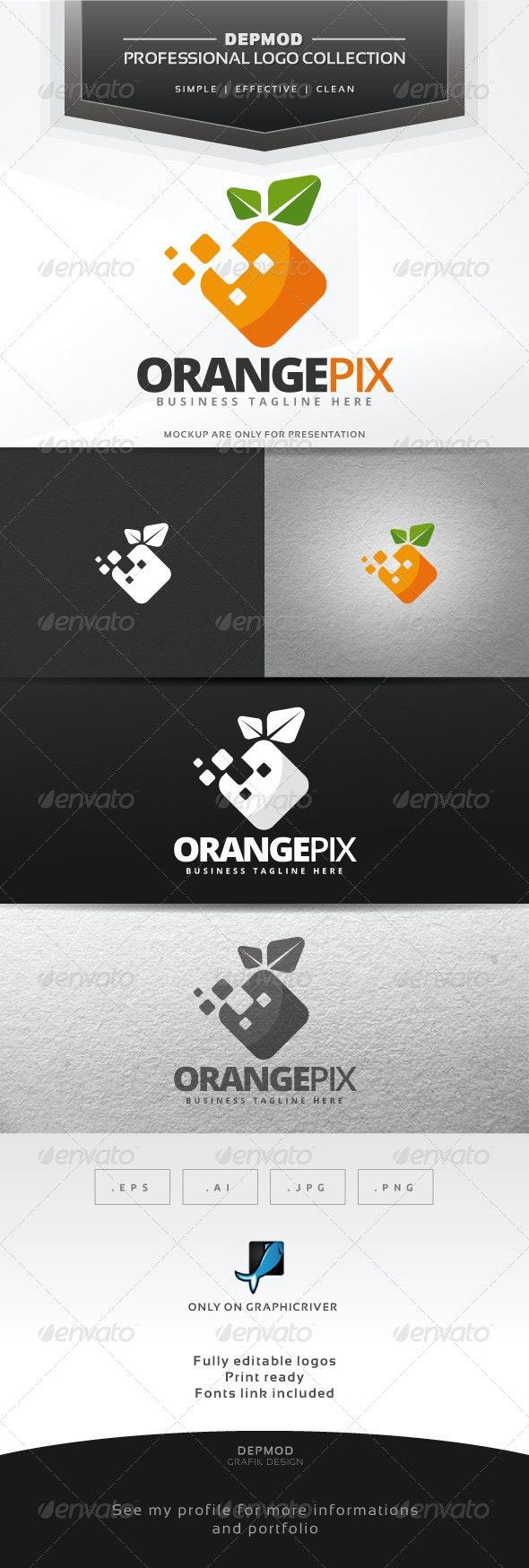 Orange Pix Logo - Food Logo Templates
