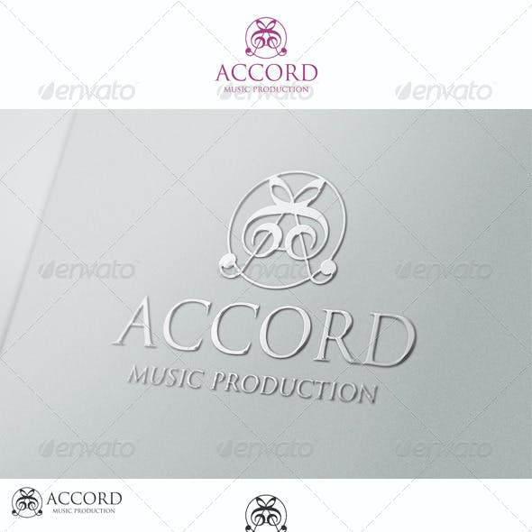 A Music Logo Letter Accord Production