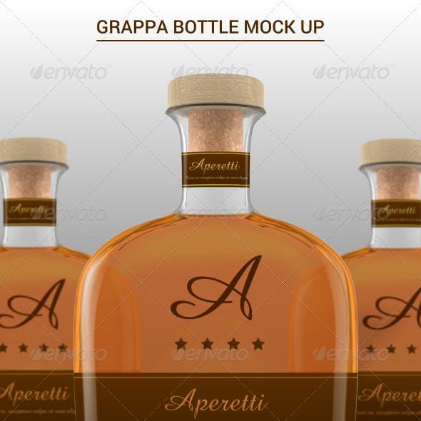 Grappa Bottle Mock-Up