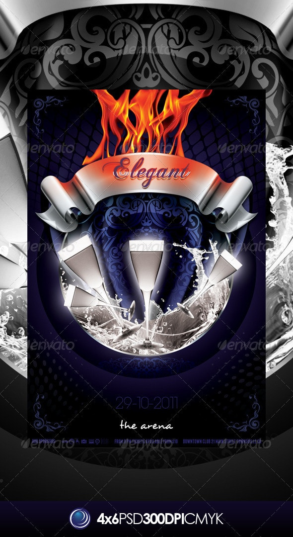 Elegant Fire Party Flyer Template - Clubs & Parties Events