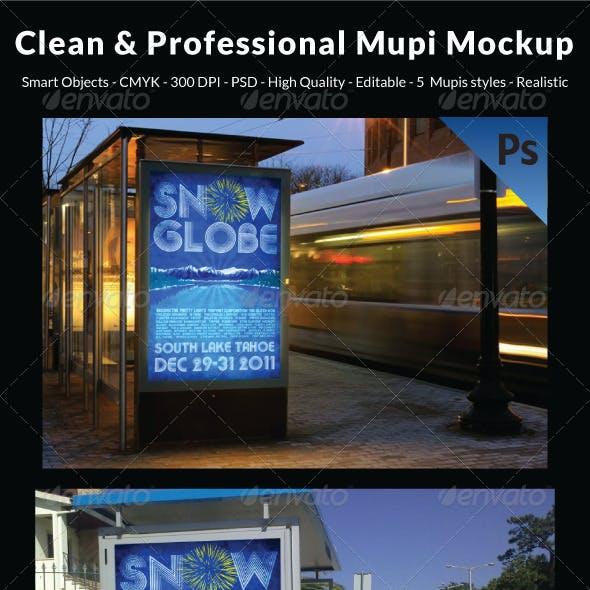 Clean & Professional Mupi Mockup