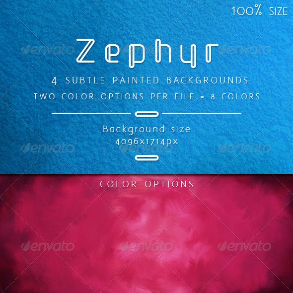 Zephyr Subtle Painted Backgrounds