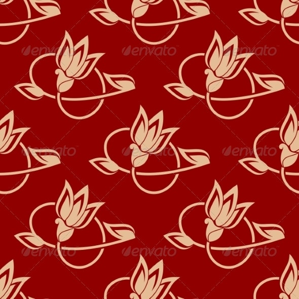 Repeat Floral Pattern in a Seamless Design - Patterns Decorative