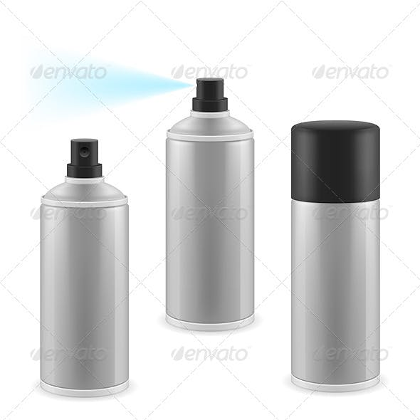 Three Spray Cans