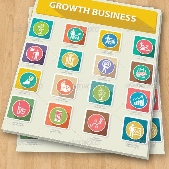 Growth Business Concept Icons