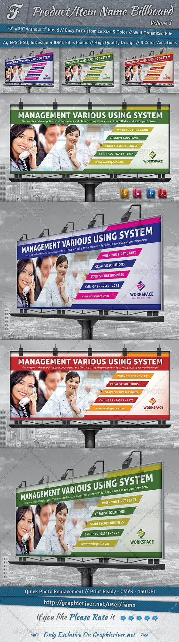 Workspace Billboard - Signage Print Templates