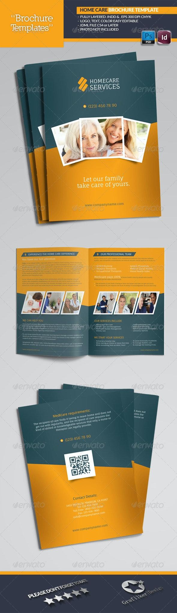 Home Care Brochure Templates - Brochures Print Templates