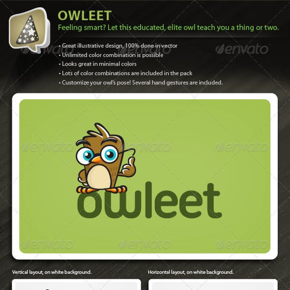 Owleet - Illustrative Owl Mascot Logo For Your Biz