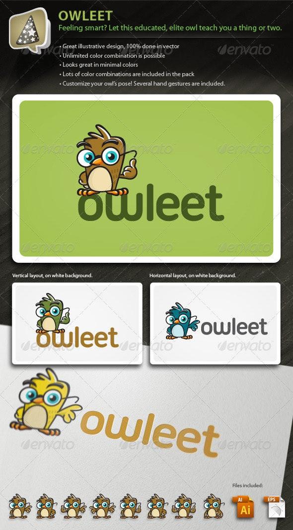 Owleet - Illustrative Owl Mascot Logo For Your Biz - Animals Logo Templates