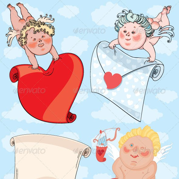 Cupids with Valentine Card