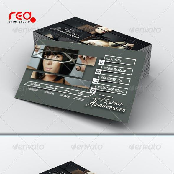 Hairdresser Salon Business Card