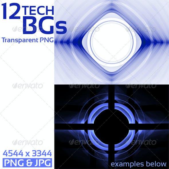 Tech Templates on Transparent Background