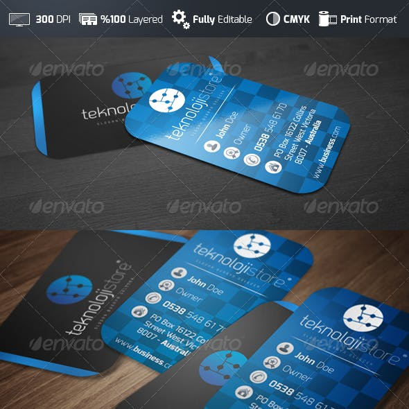 Modern Vertical - Business Card