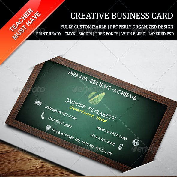 Teacher Business Card 1
