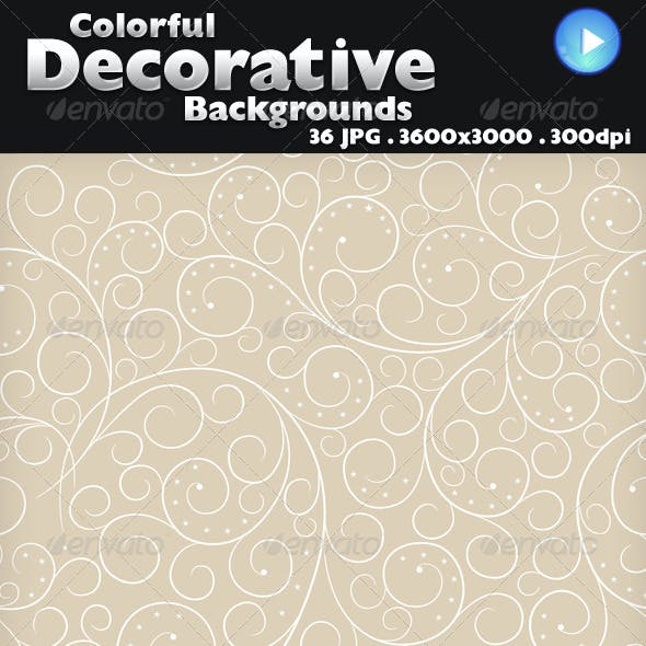 36 Colorful Decorative Backgrounds