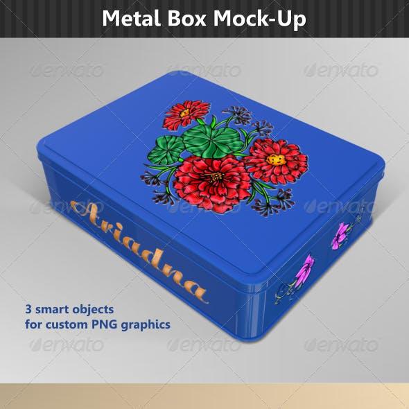 Rectangular Metal Box Mock-Up