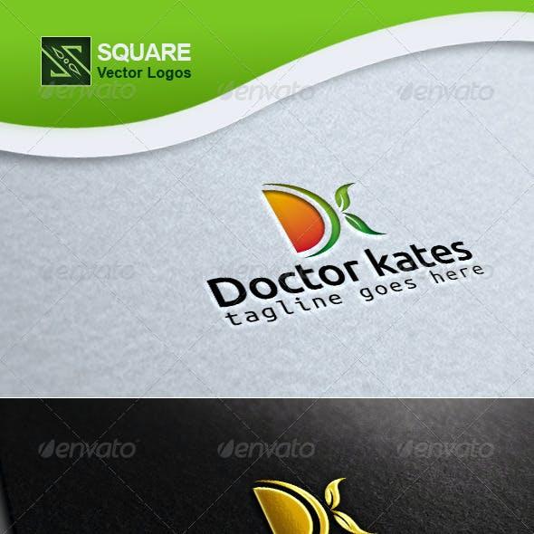 D, K, Leafs  Vector Logo Template