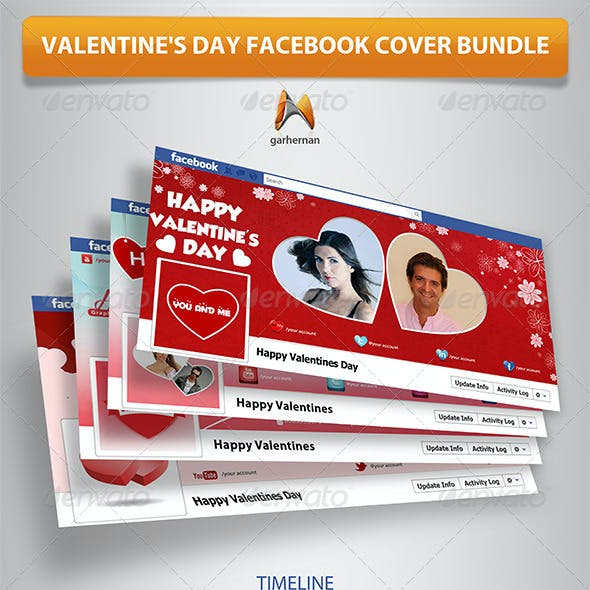 Valentine's Day Facebook Cover Bundle