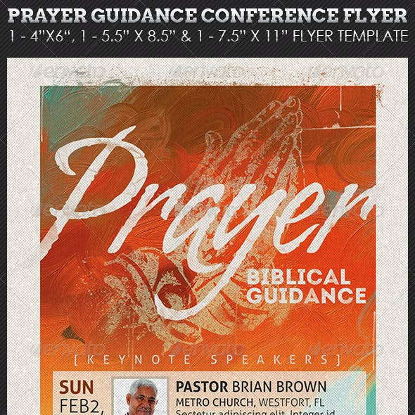 Prayer Guidance Conference Church Flyer Template
