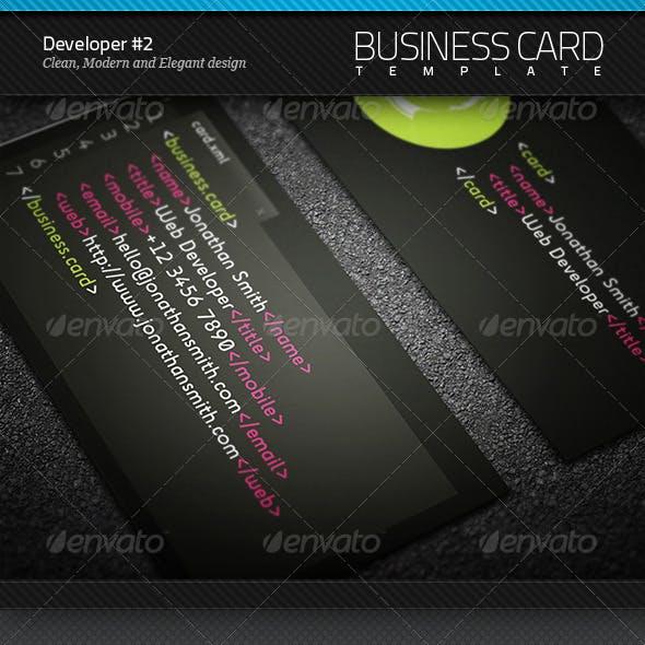 Developer Business Card #2