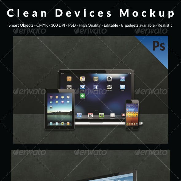 Clean Devices Mockup