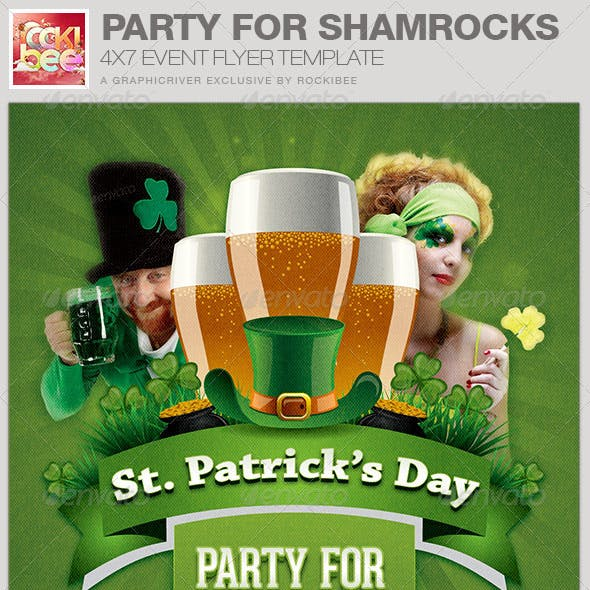Party For Shamrocks St. Patrick's Flyer Template