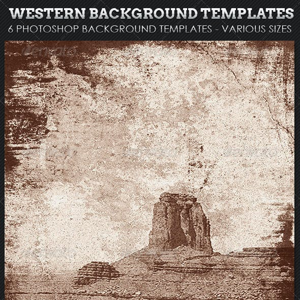 Western Background Template