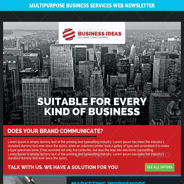 Multipurpose Business & Services Web Newsletter