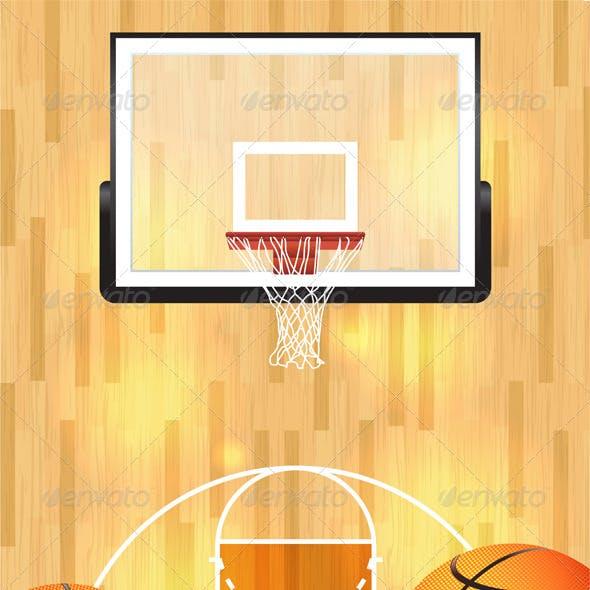 Vector Basketball Background