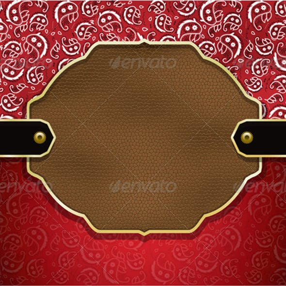 Vector Country Paisley and Leather Background
