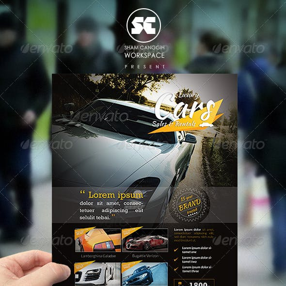 Car Sales Rental Flyer/Magazine Ads