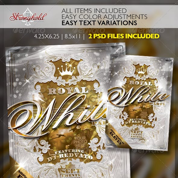 Royal White Party Event Flyer Template