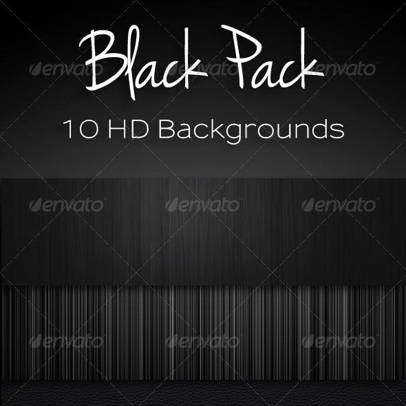 10 Black Backgrounds Bundle