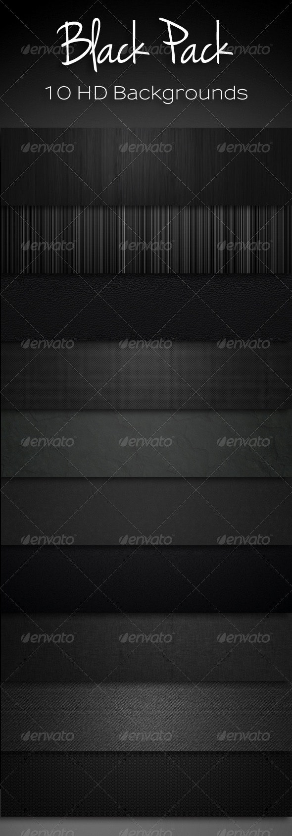 10 Black Backgrounds Bundle - Backgrounds Graphics