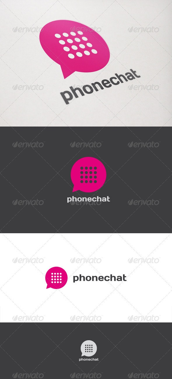 Phone Chat - Objects Logo Templates