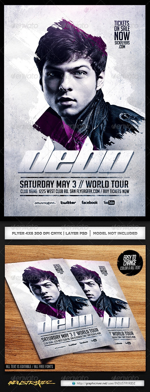 Electro House Dj Flyer PSD - Events Flyers