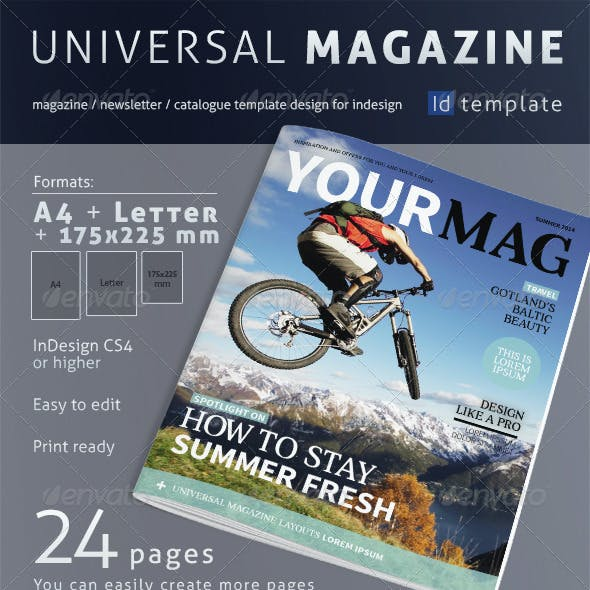 24 Page Universal Magazine A4+Letter