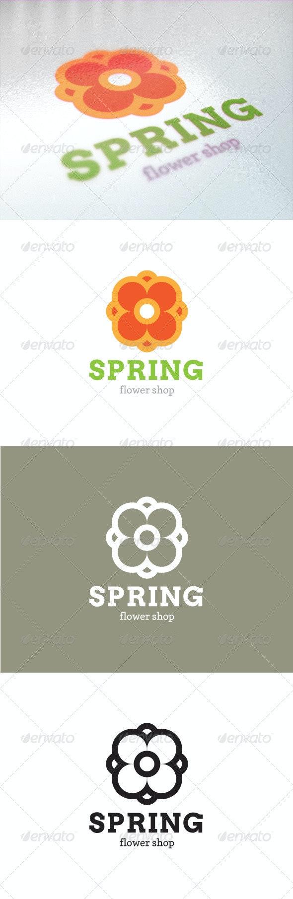 Spring Flower Logo - Symbols Logo Templates