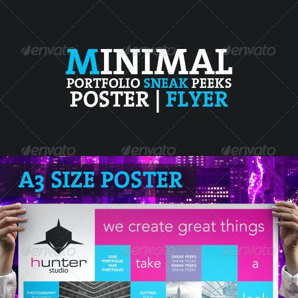 Minimal Portfolio Sneak Peeks Poster / Flyer